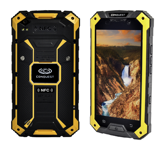 Conquest S6 Pro ruggedised smartphone