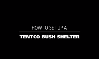 How to set up a Tentco bush shelter