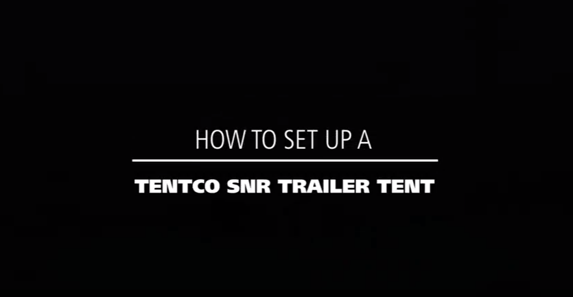 How to set up a Tentco SNR trailer tent