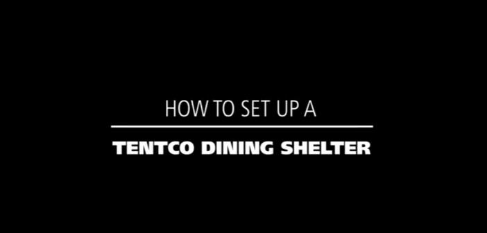 How to setup a tentco dining shelter