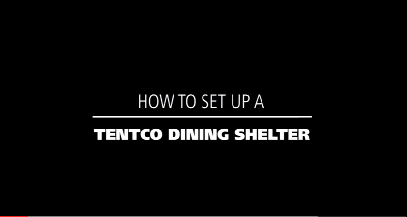 How to setup a tentco dining shelter
