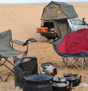 Setting up camp Namib dunes