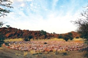 The Outpost Campsite on Daberas Guest Farm has seven sites, modern ablution facilities and even a rose quartz labyrinth.