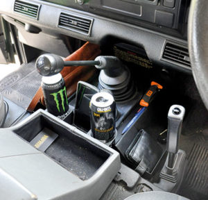 Pre-2007 Defender cup holder