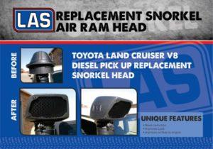 LA Sport Land Cruiser V8 diesel replacement snorkel head