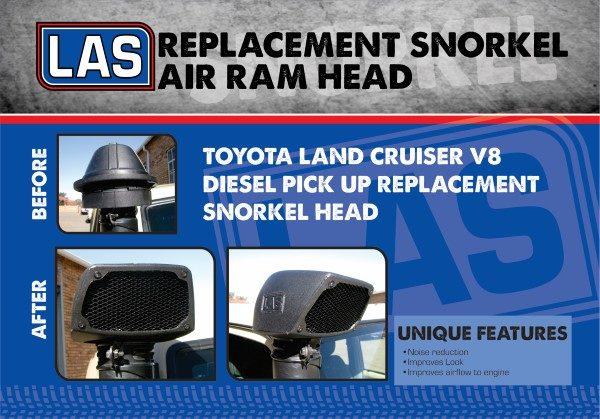 LA Sport Land Cruiser V8 diesel replacement snorkel head - SA 4x4