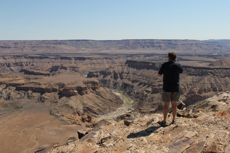 Looking out over the Fish River Canyon