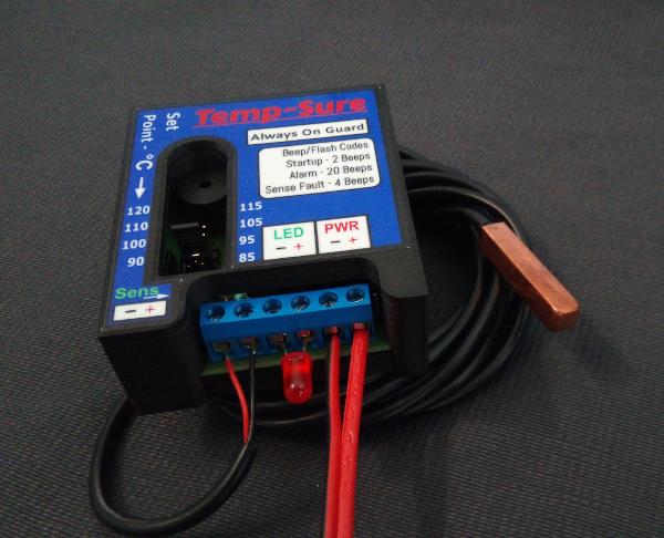 Temp-Sure temperature warning unit