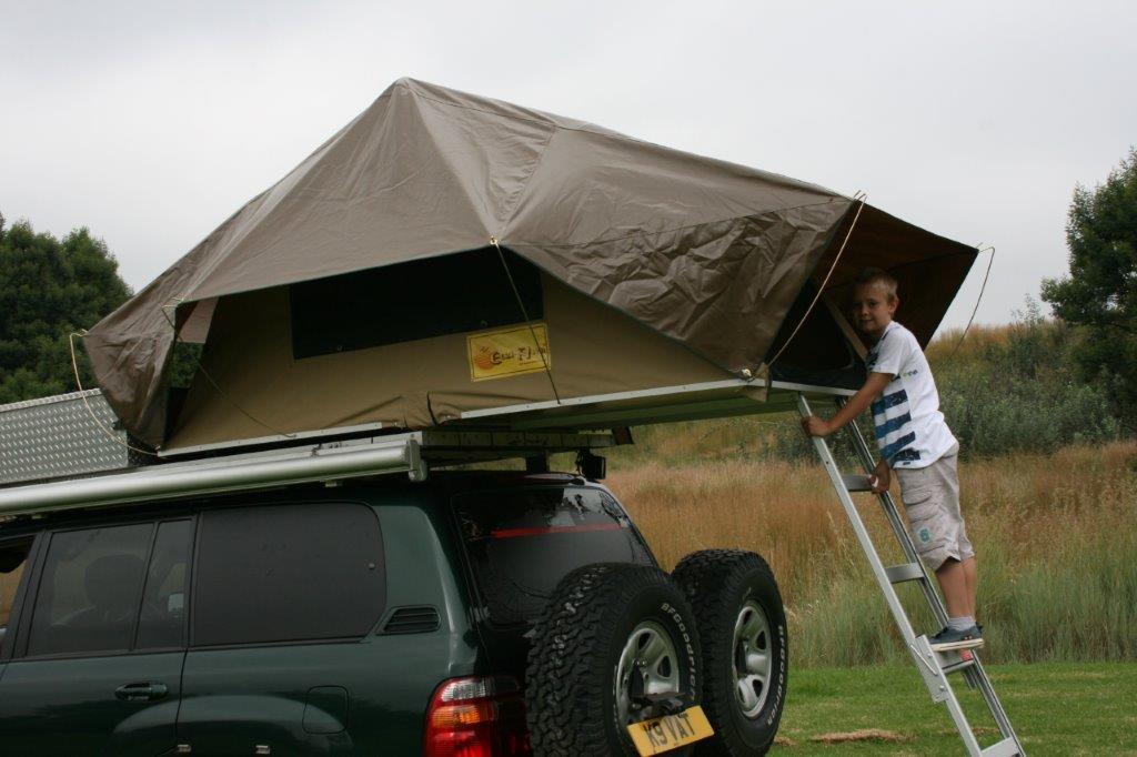 EEZI AWN Jazz Roof tent close up