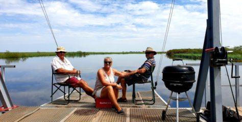 Exploring the Zambezi River floodplains in full flood