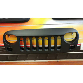 JEEP JK ANGRY BIRD GRILL CARBON LOOK - STOCK CLEARANCE SALE
